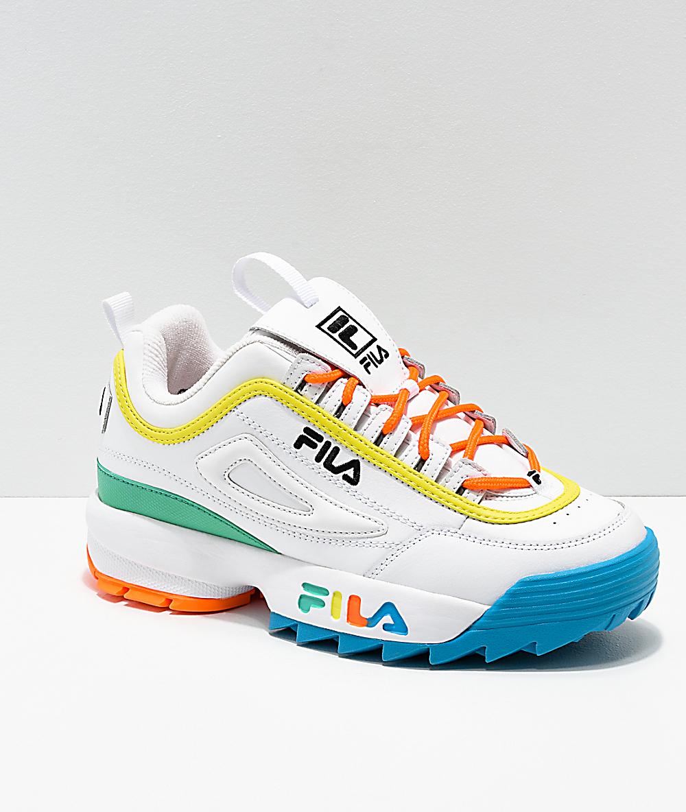 d4b0ea791c FILA Disruptor Multicolor & White Shoes