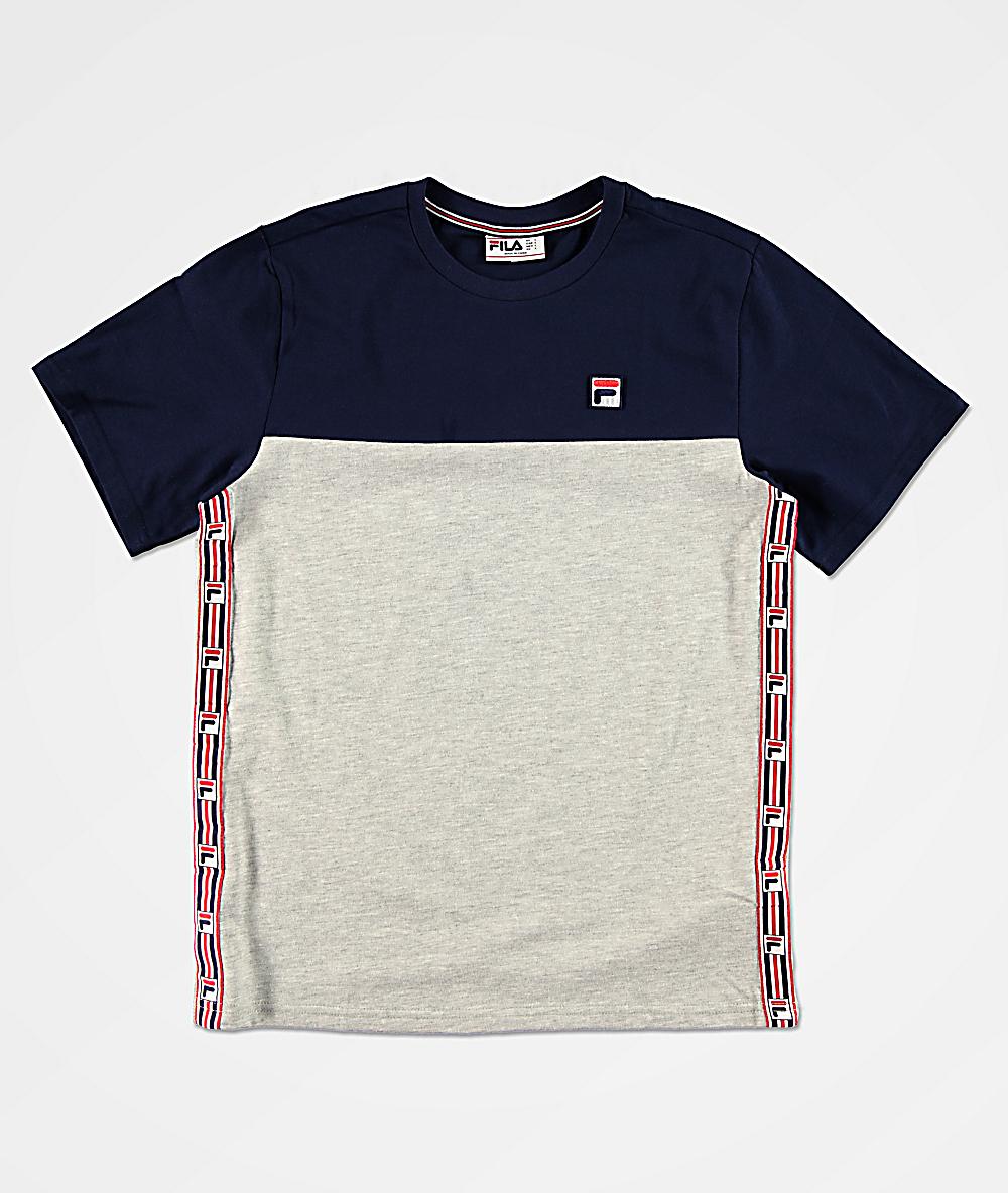 FILA Luca camiseta gris con cinta para niños