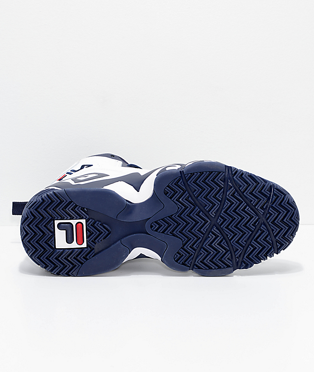 Fila MB White, Navy & Red Shoes White