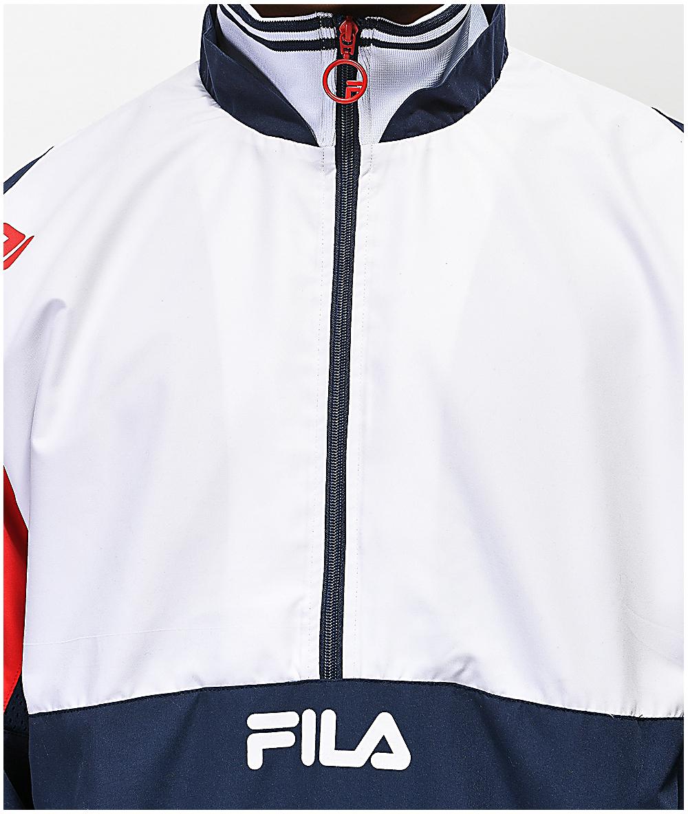 b80da8ec4 FILA Marty White & Red Track Jacket