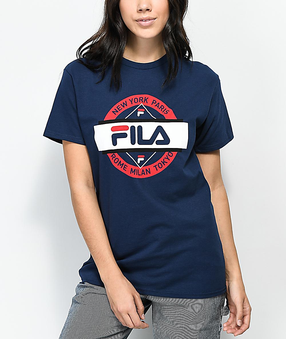 FILA Seal Navy T-Shirt