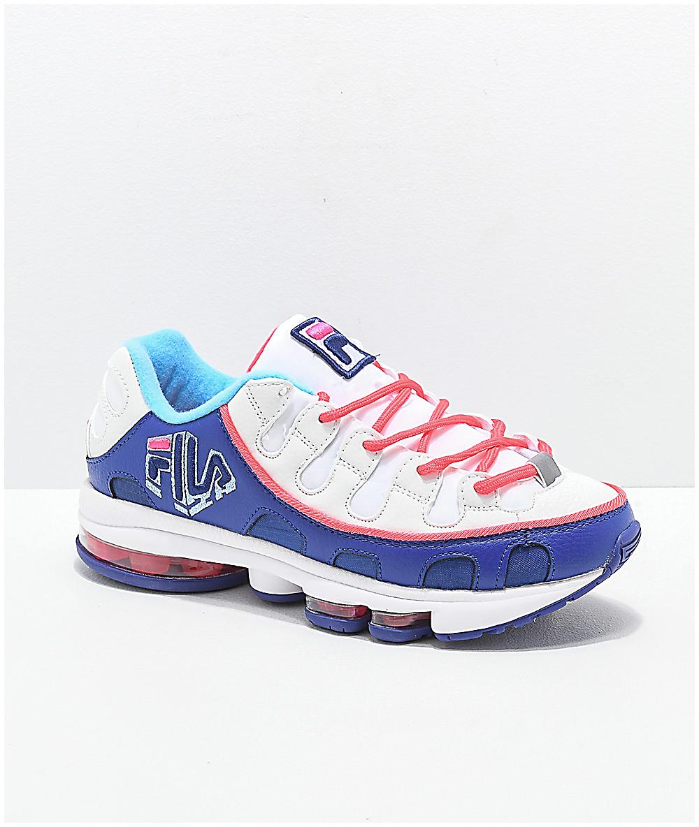 FILA Silva Trainer White, Pink & Blue Shoes