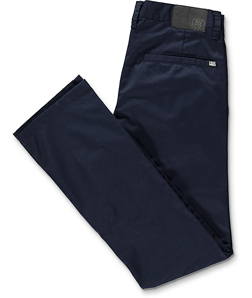 4e6d1c68a555 Free World Drifter Navy Chino Pants | Zumiez