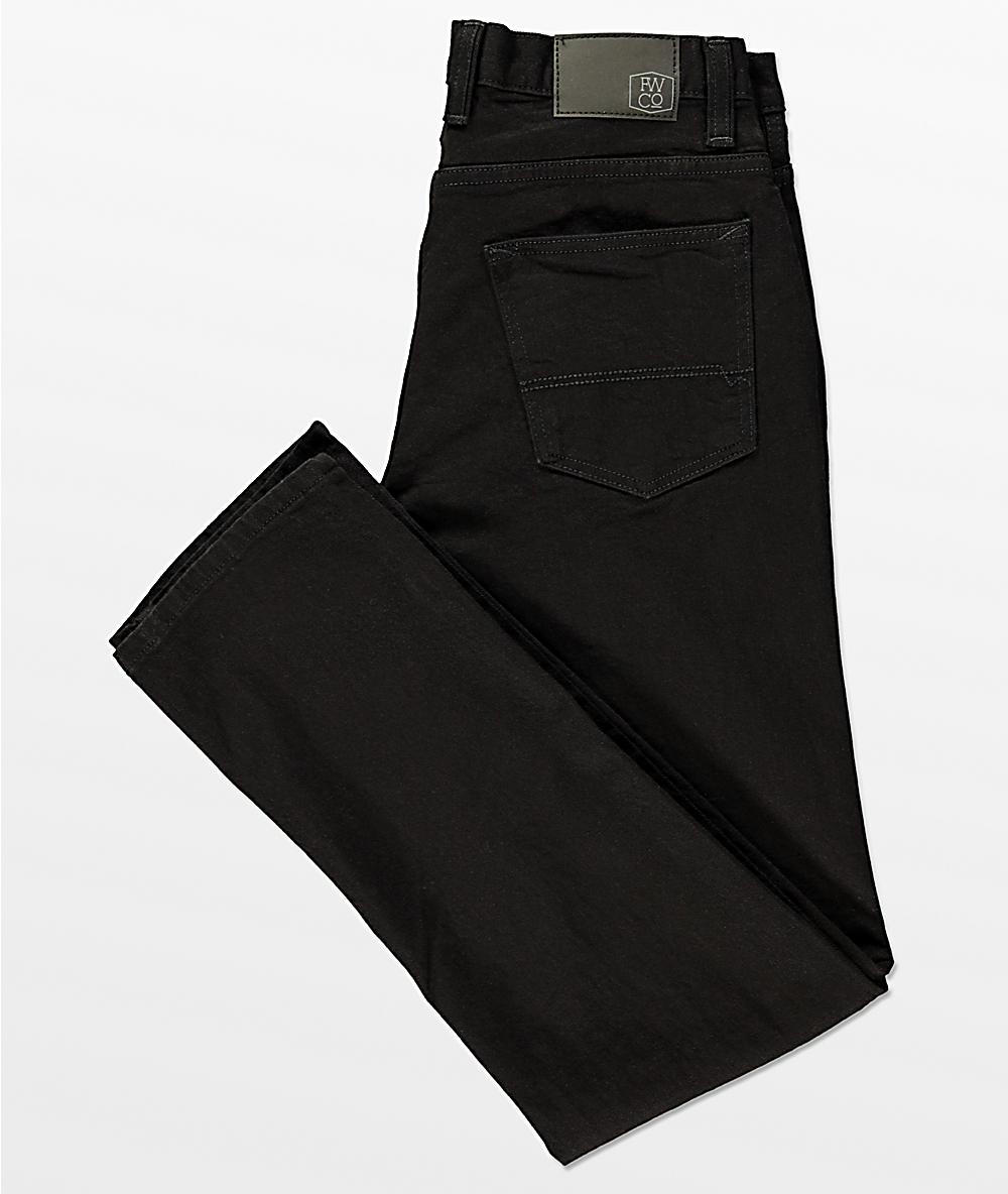 Freeworld Night Train Stretch Pure Black Jeans