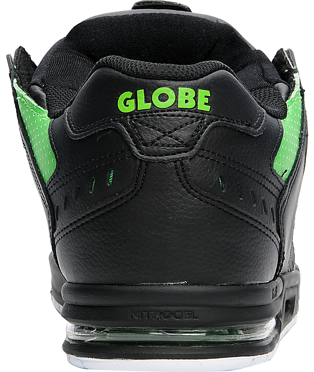 SkateZumiez Globe Green Sabre Shoes Blackamp; Moto byY7f6g