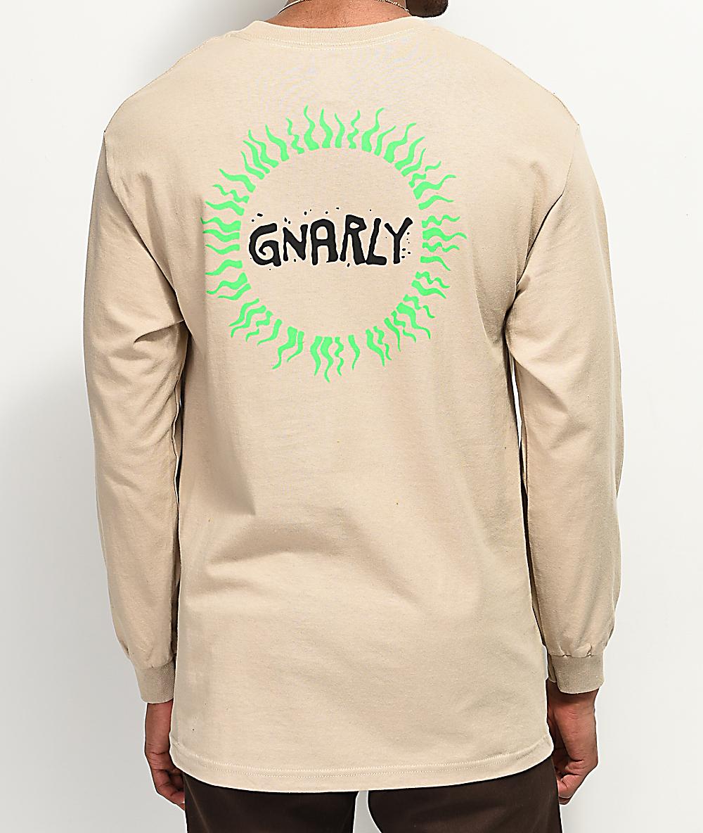 sitio web profesional venta caliente barato más fotos Gnarly Tribal Sun camiseta beige de manga larga