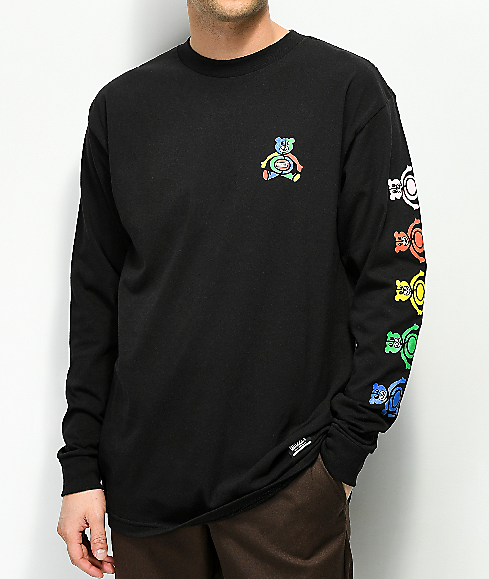 24c4a789042c Grizzly Primary Bear Black Long Sleeve T-Shirt | Zumiez