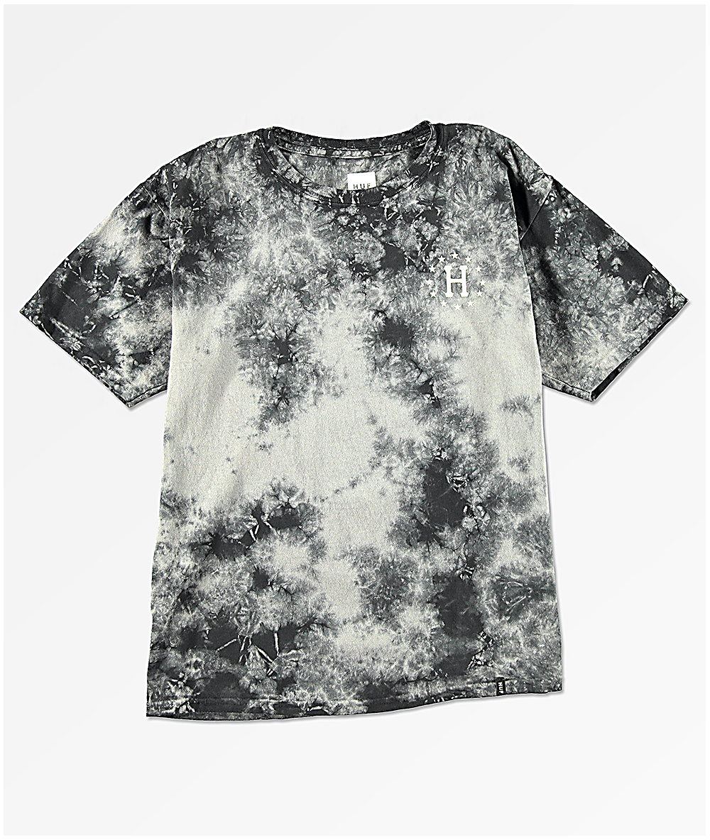 5857932c HUF Boys Roses Black Tie Dye T-Shirt | Zumiez
