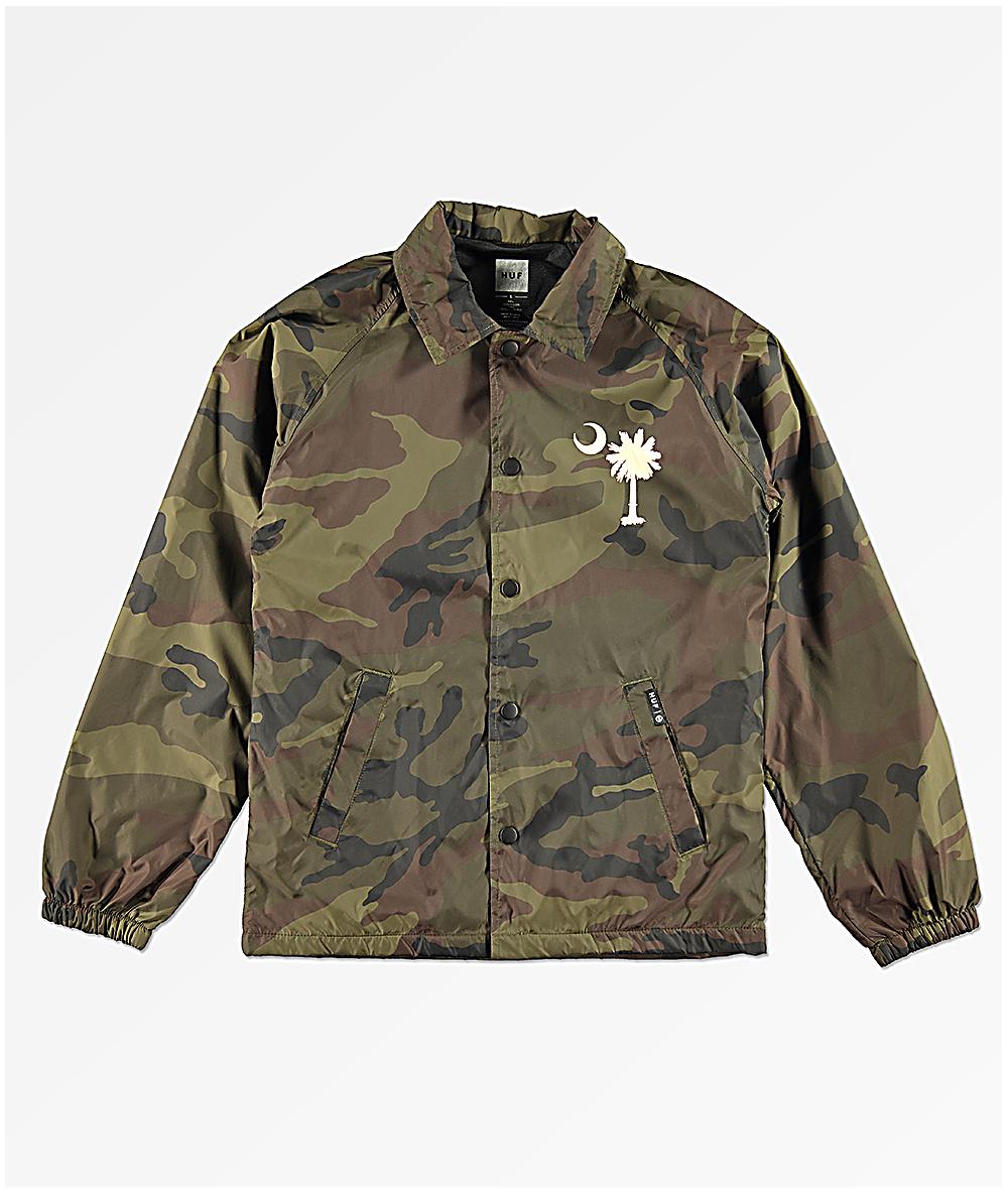 499577380cc3b HUF Boys Spirit Camo Coaches Jacket | Zumiez