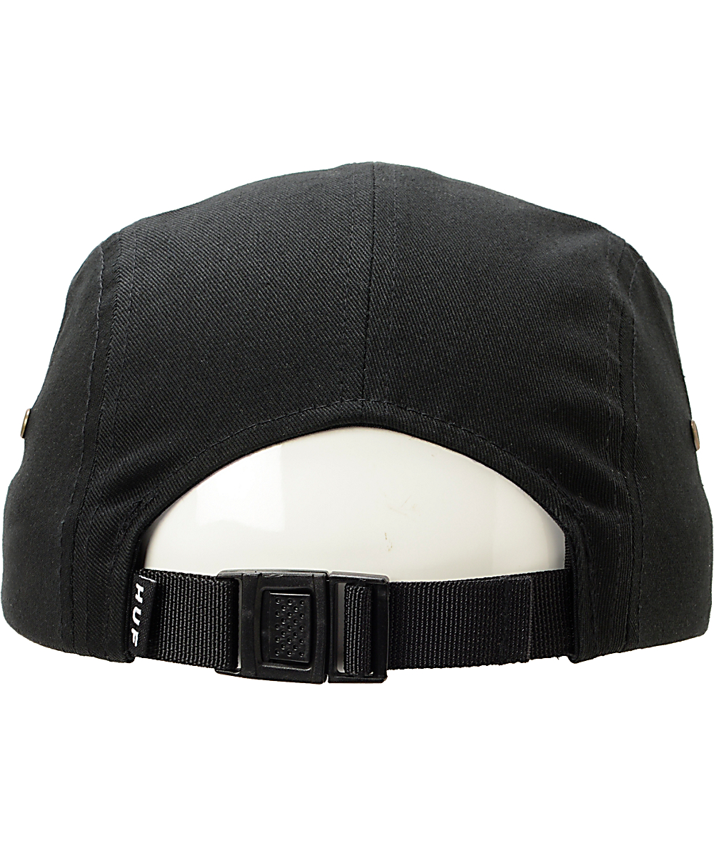 7e14c2af8647e HUF Hex Diamond Print Black 5 Panel Hat | Zumiez