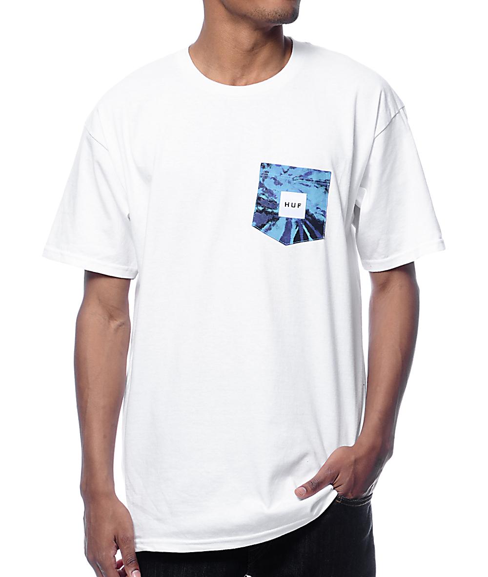6d9939ca8c6ac HUF Tie Dye White Pocket T-Shirt