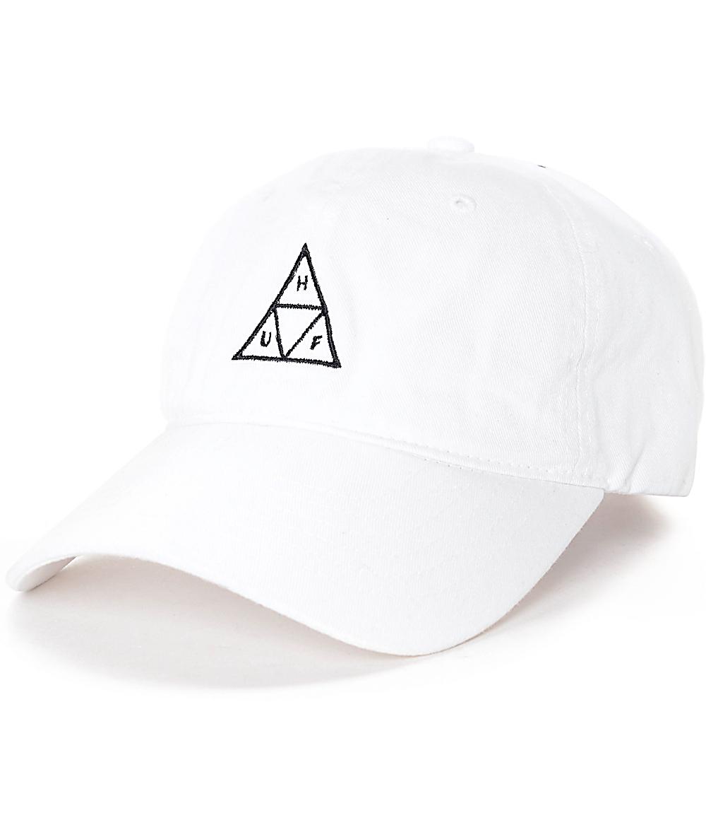 5b93fda53 HUF Triple Triangle White Polo Strapback Hat