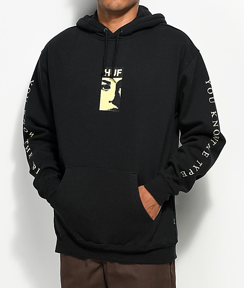 bfc41df3a HUF Type Black Hoodie | Zumiez