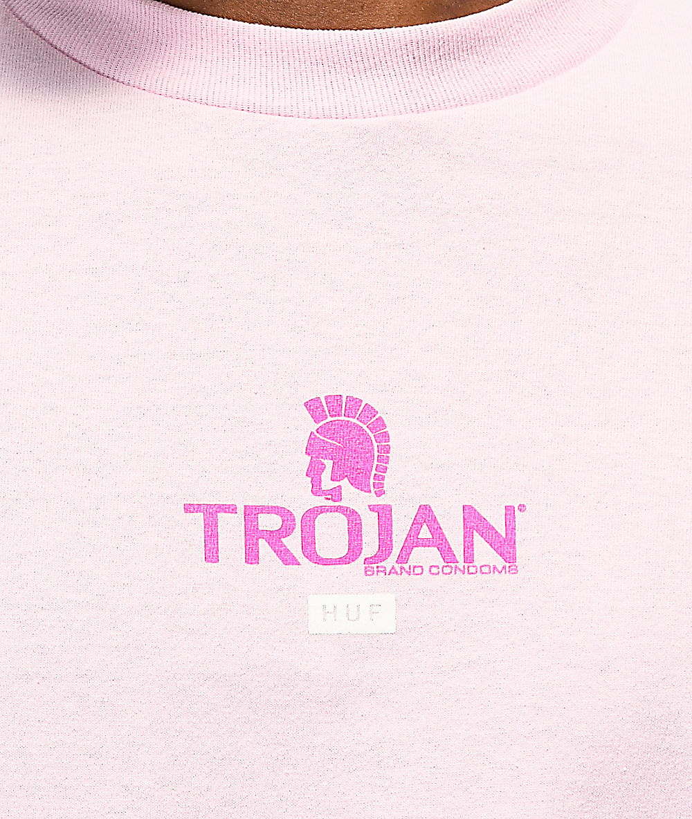 HUF x Trojan Pleasure Pack Pink Long Sleeve T-Shirt