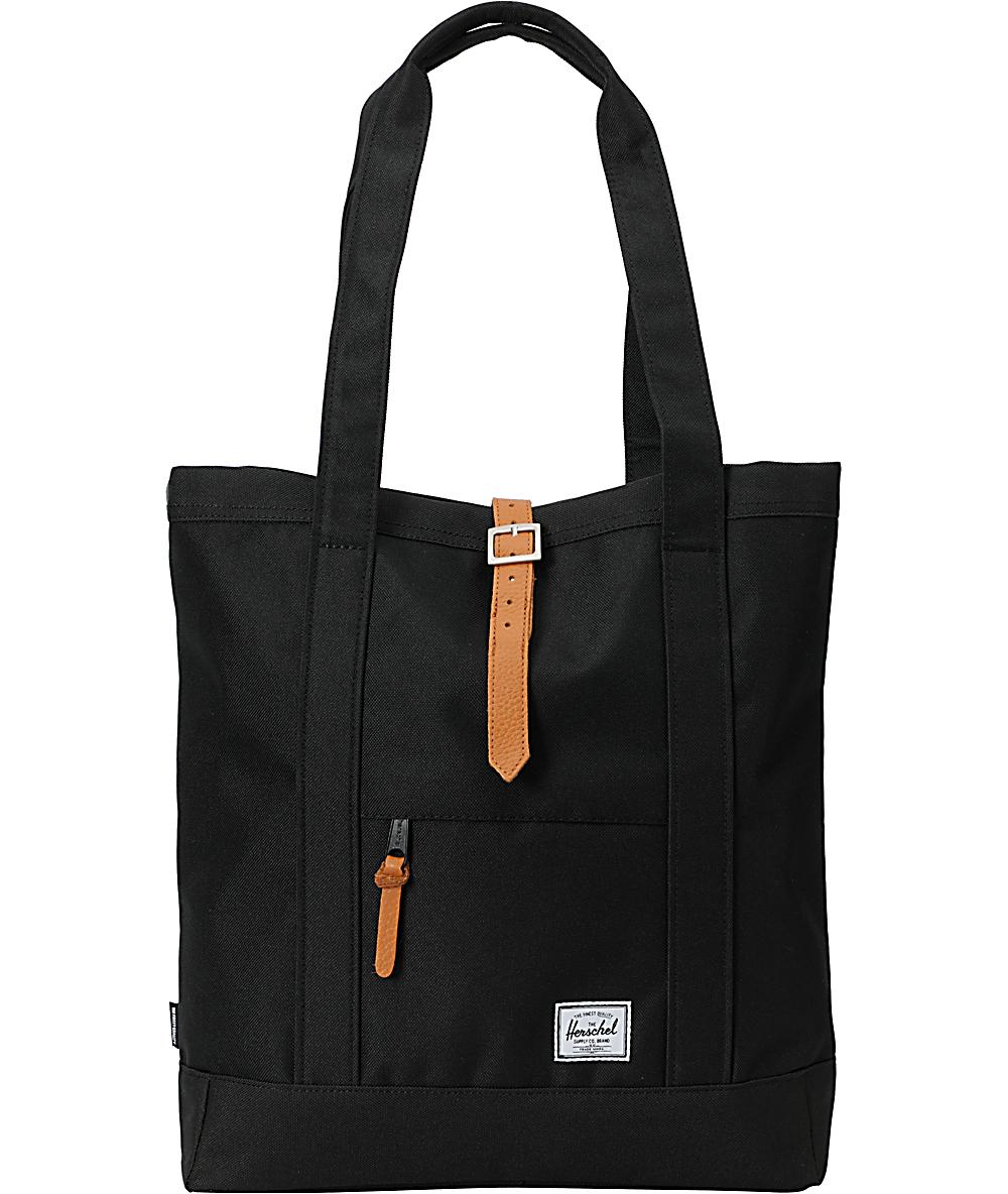 5b3ea11c7 Herschel Supply Co. Market Black Tote Bag | Zumiez