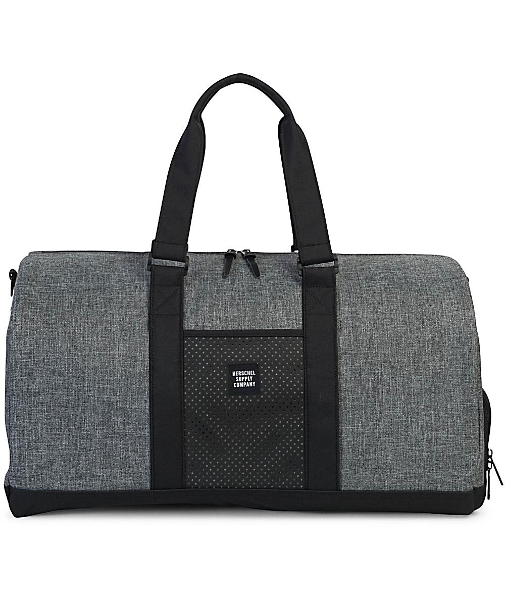 Herschel Supply Co Novel Aspect Raven Crosshatch Duffle Bag