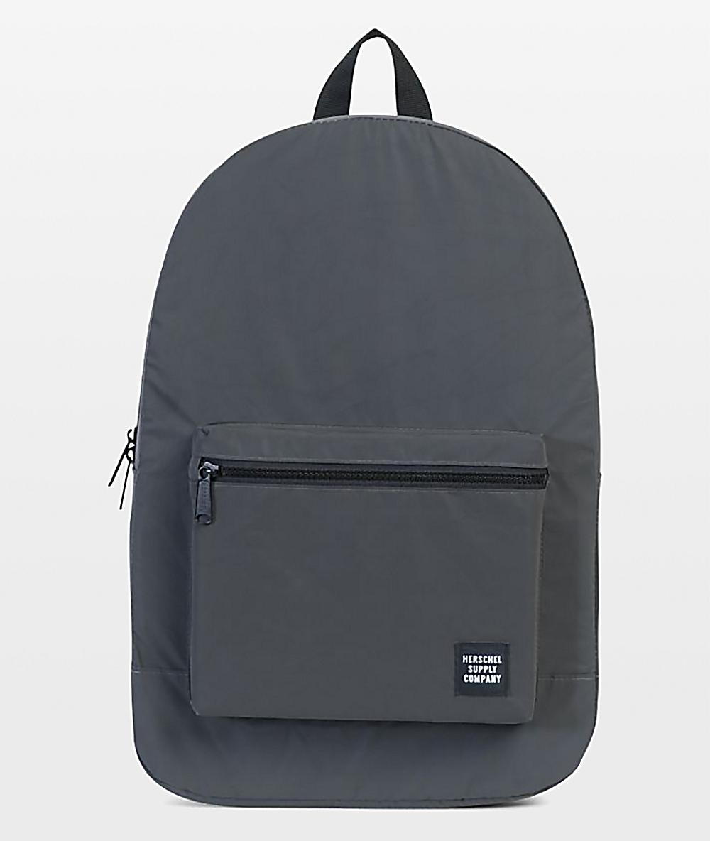 Nowa lista przyjazd zniżki z fabryki Herschel Supply Co. Reflective Packable Daypack Black 24.5L Backpack