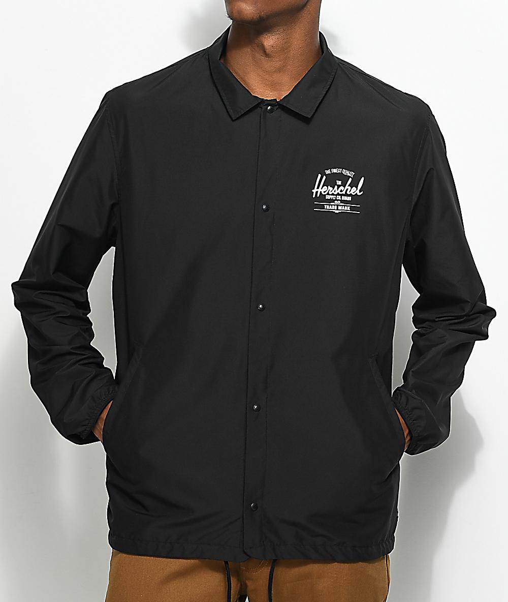 ca01473d Herschel Supply Co. Voyage Black & White Coaches Jacket