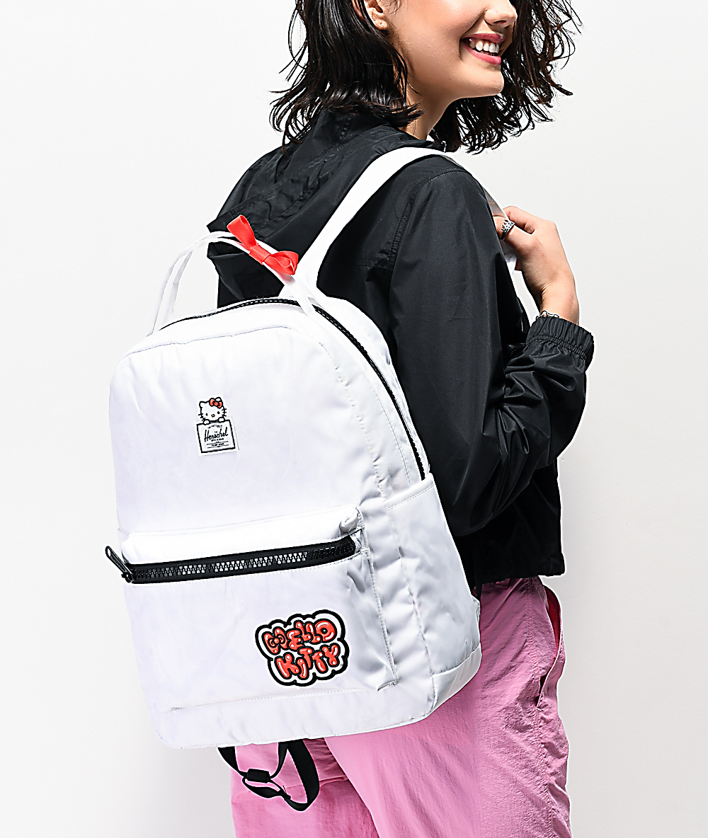 3fad6d322 Herschel Supply Co. x Hello Kitty 45th Anniversary Nova Mid White Backpack  | Zumiez