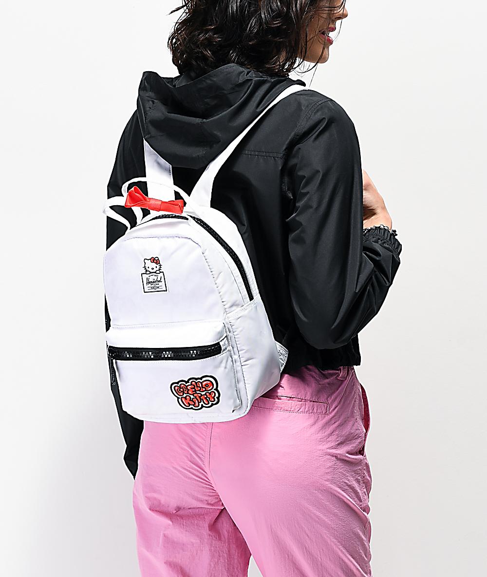 72410d8a4 Herschel Supply Co. x Hello Kitty 45th Anniversary Nova White Mini Backpack    Zumiez