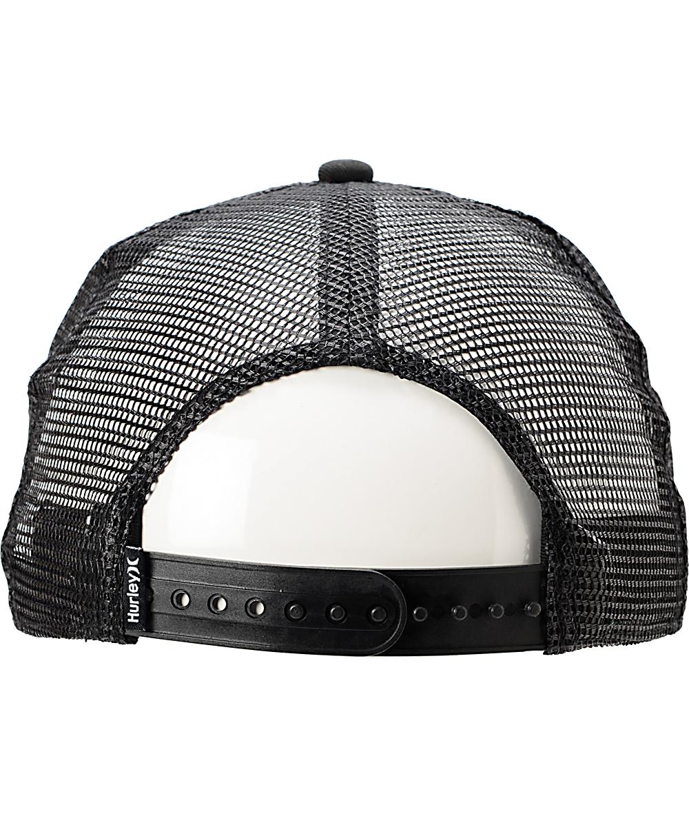 0fd27bd3 Hurley Record Scratch Black Snapback Trucker Hat | Zumiez