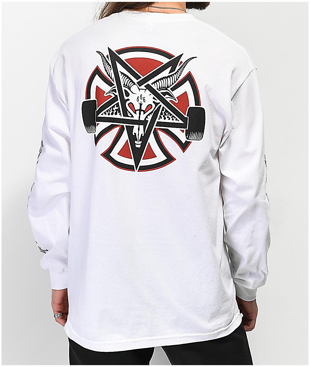 66274abc1350 Independent x Thrasher Pentagram White Long Sleeve T-Shirt   Zumiez