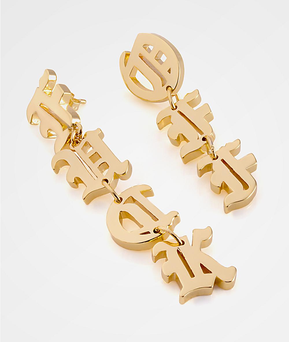 King Ice Women S Off Gold Earrings