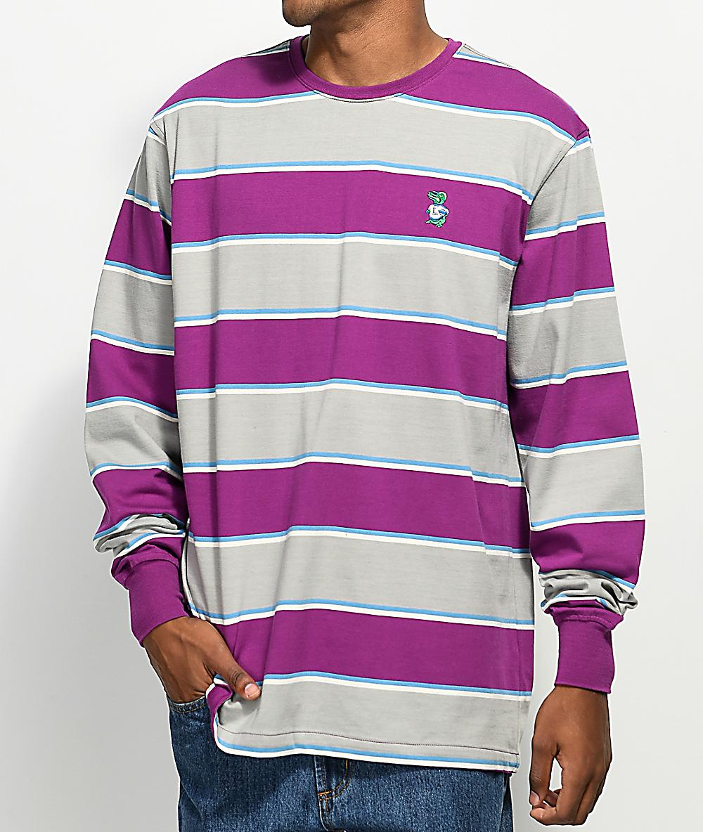28c7fc0f3b55 LRG Striped Purple Long Sleeve Shirt | Zumiez
