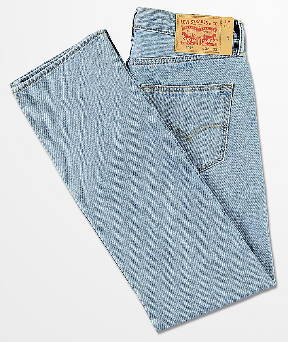 Stone Fit Levi's Original Wash Jeans 501 Light bfyvY6I7g