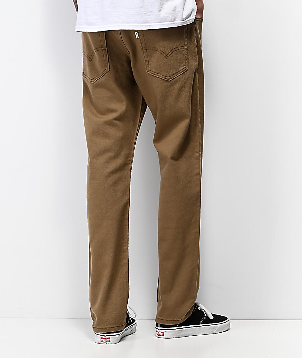 502 Levi's Cougar Tencel Khaki Jeans 5jL3qc4AR