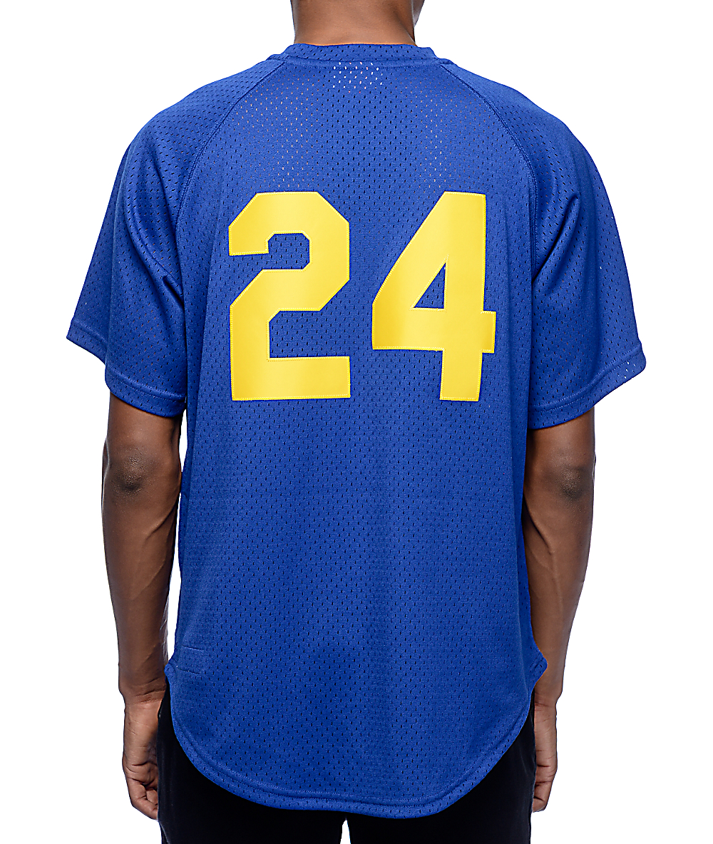buy online 06248 ecb9a MLB Mitchell and Ness Mariners Griffey 91 Blue Jersey