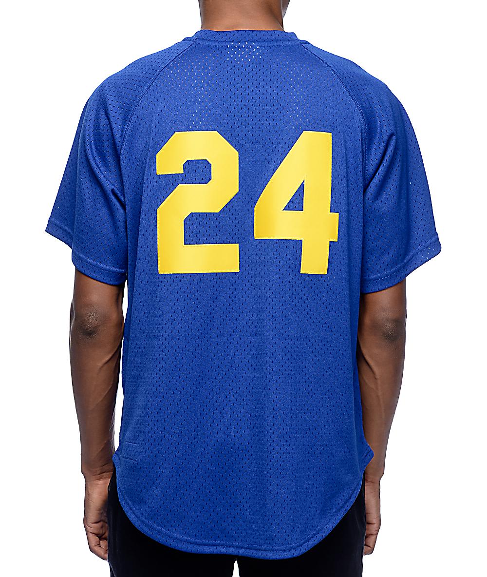 842e01e6 MLB Mitchell and Ness Mariners Griffey 91 Blue Jersey | Zumiez