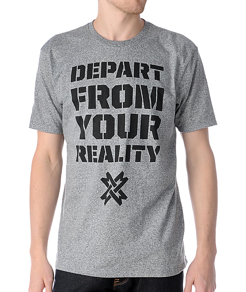 b59e31b7d7a6e0 Mass Exodus Departed Grey T-Shirt | Zumiez