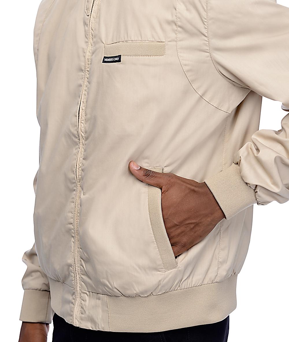 Members Only Iconic Racer Khaki Jacket