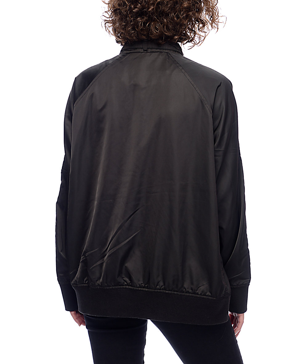 a02862626 Members Only Washed Satin Black BF Jacket