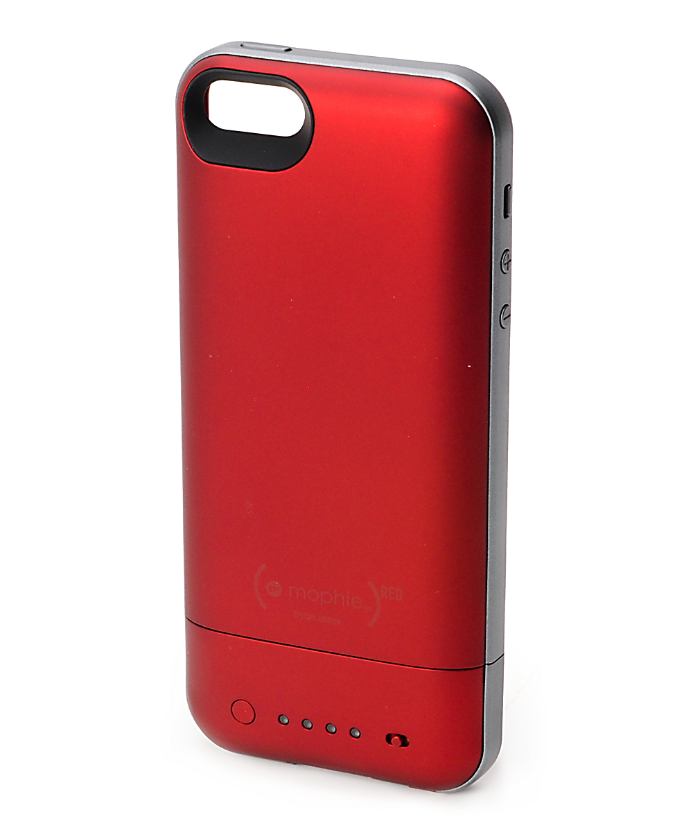 big sale 7621c 39c23 Mophie Juice Pack Air Red iPhone 5 Case