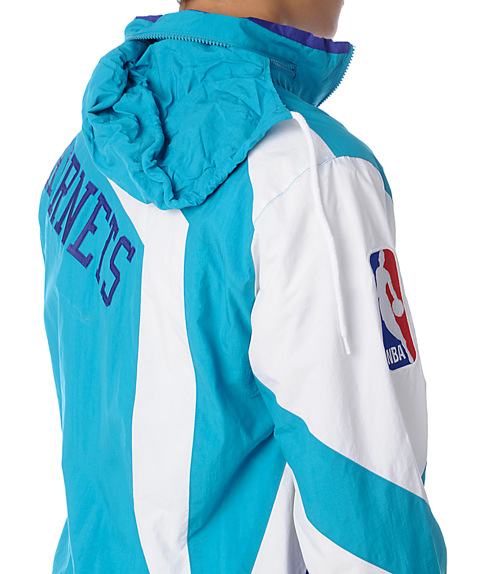 new product 70ce2 d3e30 NBA Mitchell and Ness Vintage Charlotte Hornets Windbreaker ...