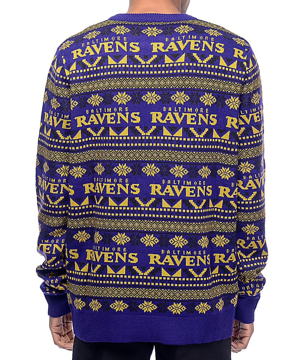 wholesale dealer 7f493 0ccf2 NFL Forever Collectibles Baltimore Ravens Aztec Ugly Sweater