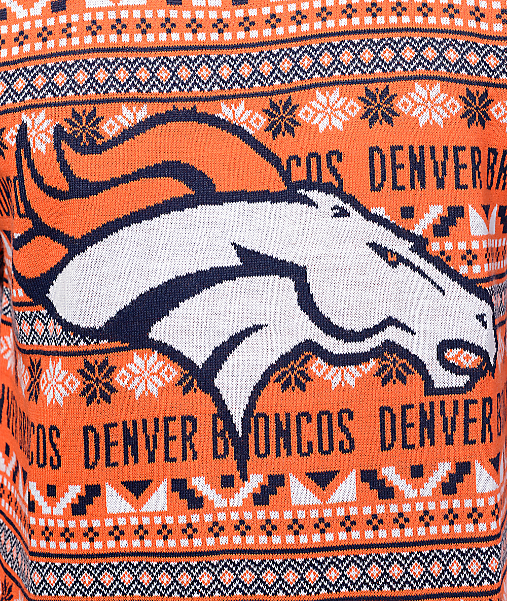 competitive price f2ecd e60d7 NFL Forever Collectibles Broncos Aztec Ugly Sweater