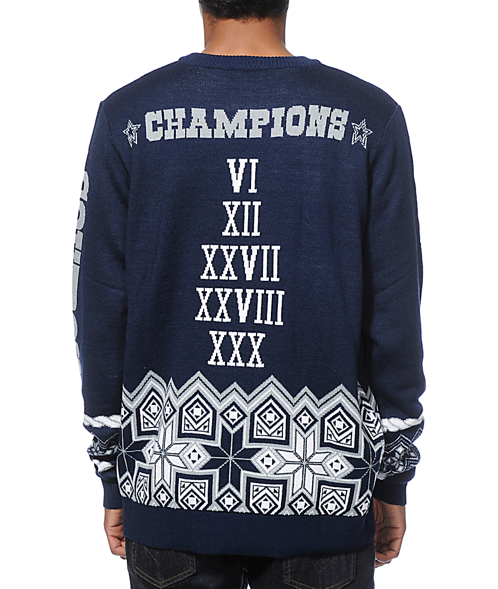 online store 54084 4e758 NFL Forever Collectibles Cowboys Super Bowl Sweater