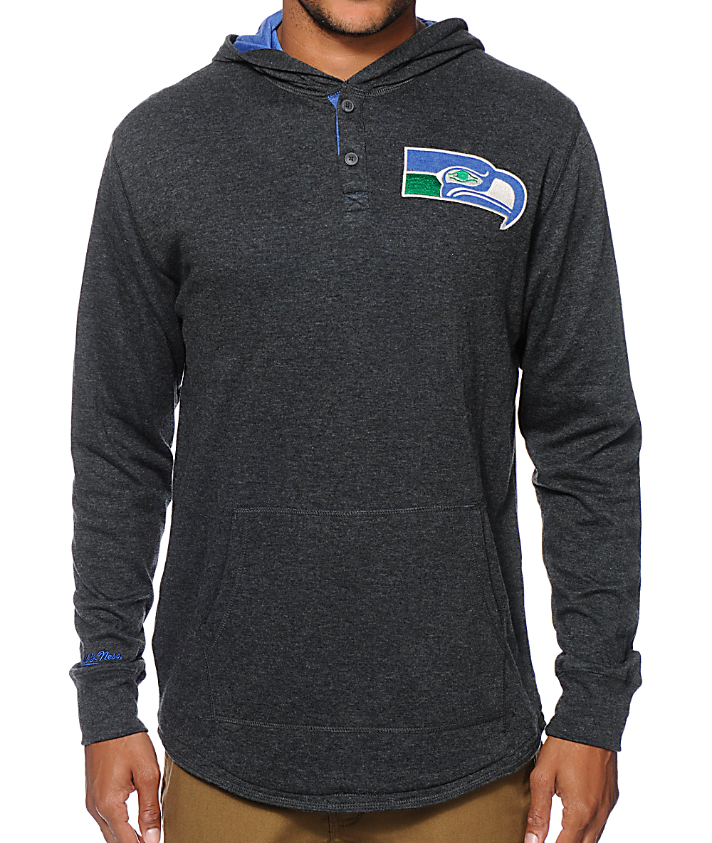 online store 614b8 72a28 NFL Mitchell & Ness Seahawks Henley Hoodie