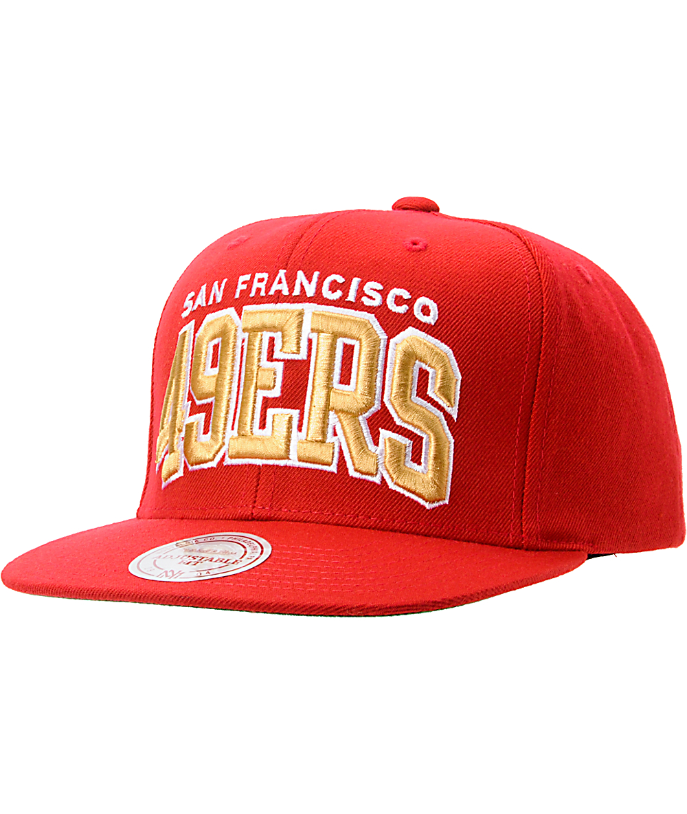 8bb8edb1 NFL Mitchell And Ness San Francisco 49ers Red Arch Snapback Hat