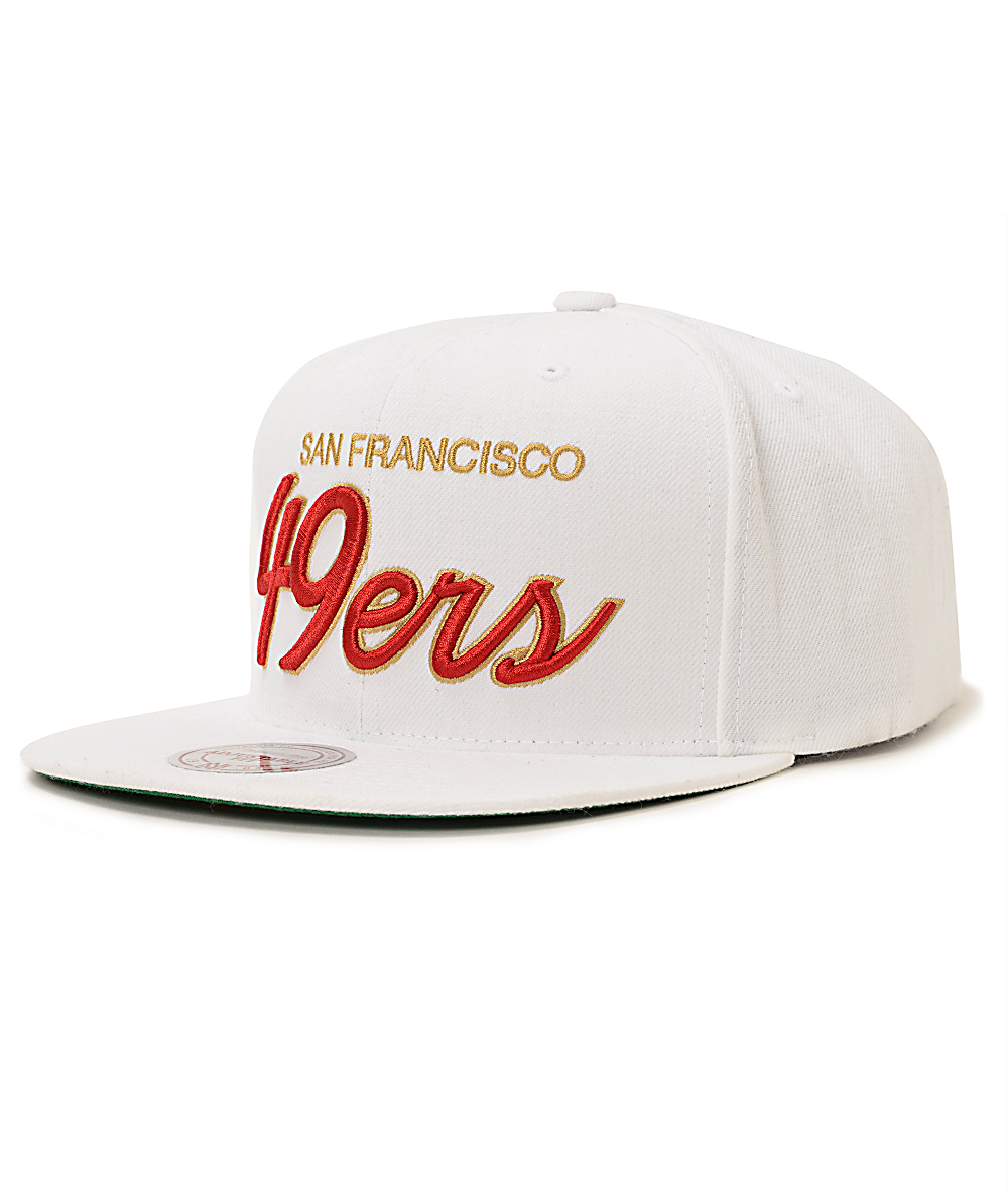 5e8ec2d3 NFL Mitchell and Ness 49ers All White Snapback Hat