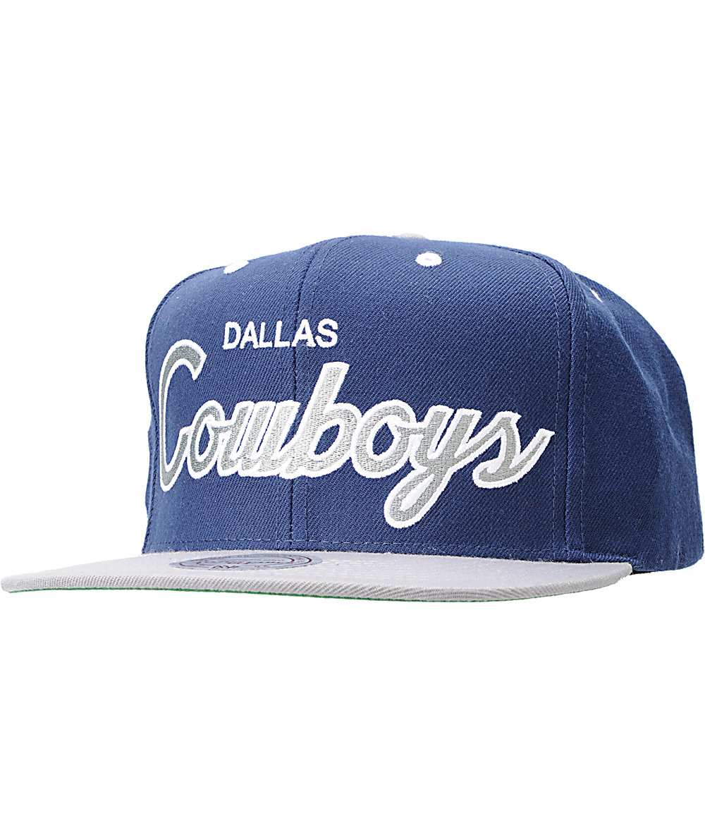 4b2d7457 NFL Mitchell and Ness Dallas Cowboys Logo Snapback Hat | Zumiez