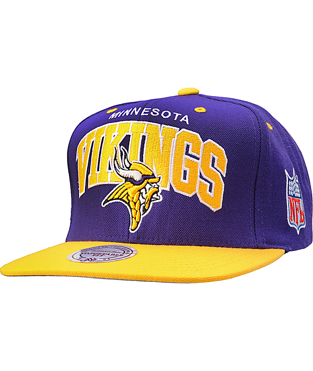 ee81cbb7 NFL Mitchell and Ness Minnesota Vikings Snapback Hat
