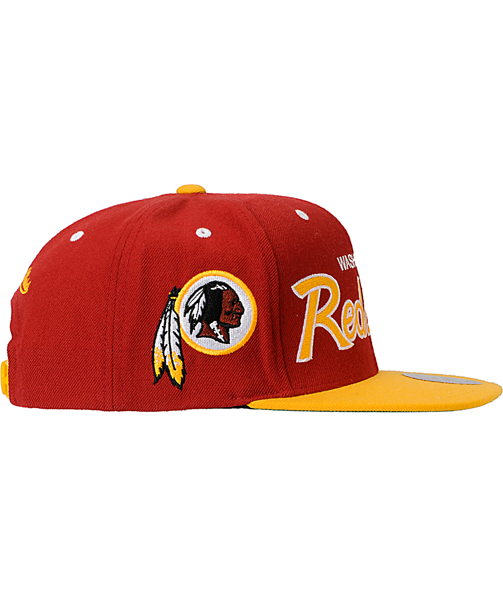 watch b39c3 3b97f NFL Mitchell and Ness Washington Redskins Script Snapback ...