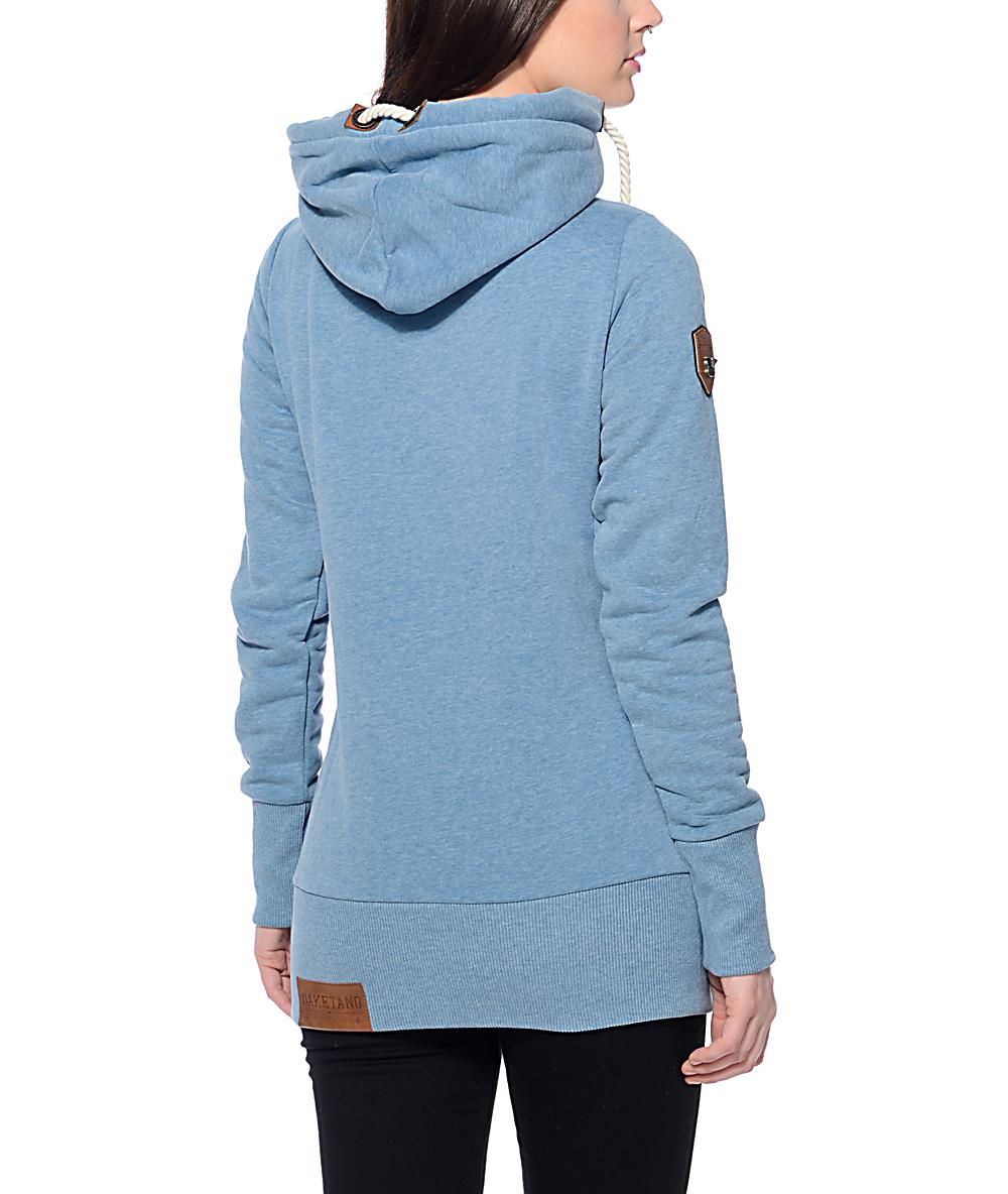 Naketano Darth Long VI Light Blue Hoodie