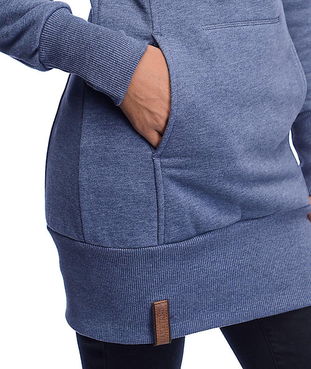 Naketano Salami Jones III Blue Grey Sweatshirt BLUE Women's