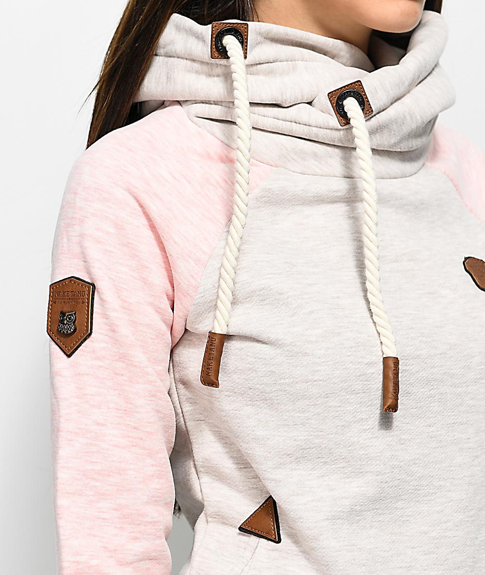 Naketano So Ein Otto IV W hoodie grey pink heather
