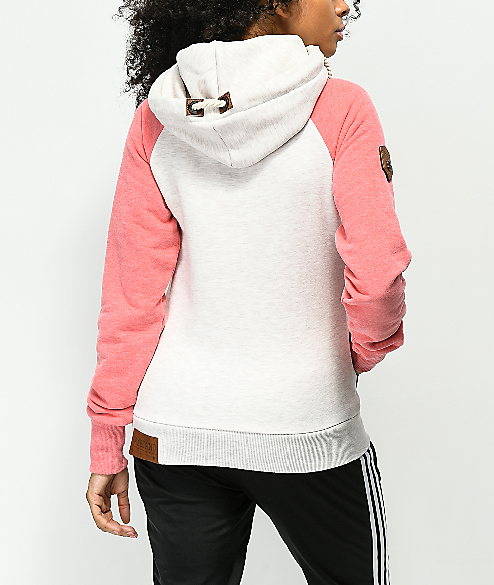Naketano So Ein Otto Oma Oatmeal & Pink Hoodie